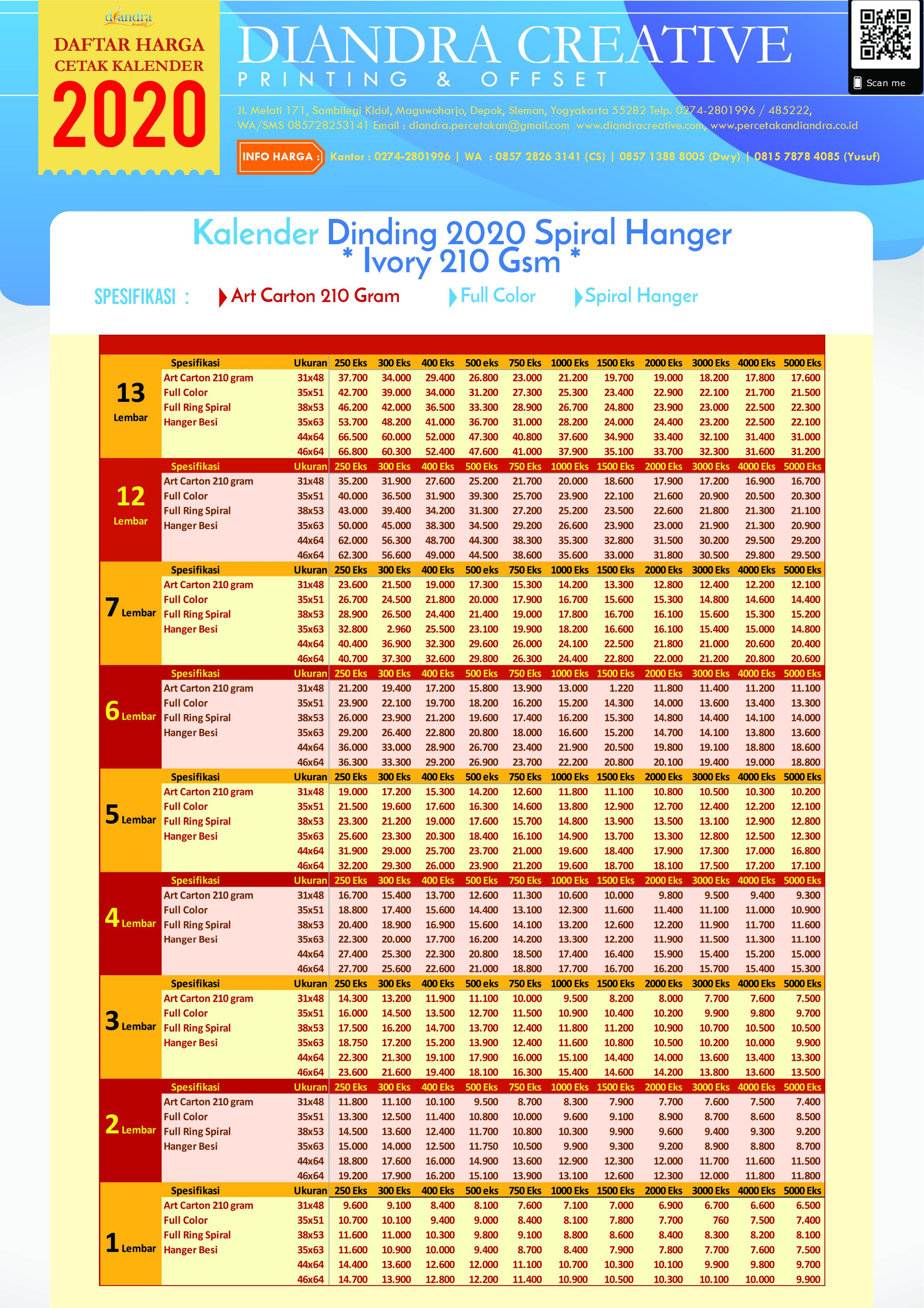 Kalender Meja 2020